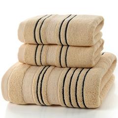 Adult cotton  bathroom 3 piece set towel,home towels Brown 2-74*34   1-70*140