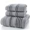 Adult cotton  bathroom 3 piece set towel,home towels gray 2-74*34   1-70*140