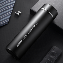 Vacuum flask 18/8 stainless steel fashion water cup simple thermos cup black 500ml