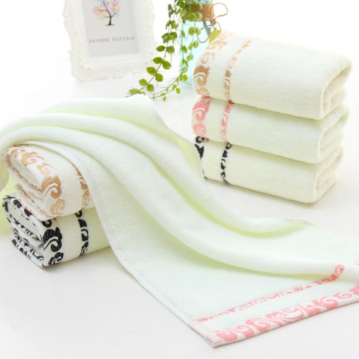 Home soft cotton strong absorbent towel face towel 1pcs random color 75cm*34cm