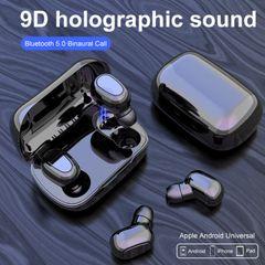 Bluetooth Headset L21 Stereo Binaural Earbud In-ear Wireless Earphone bluetooth earphone Black