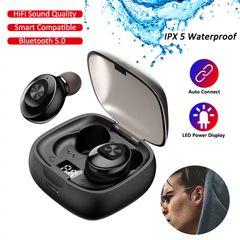 Bluetooth Earphone Sport Earpiece Mini Headset Stereo Sound In Ear IPX5 Waterproof black
