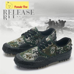 Wear-resisting camouflage low-side mountaineering antiskid shoes for military training digital camoufiage 37