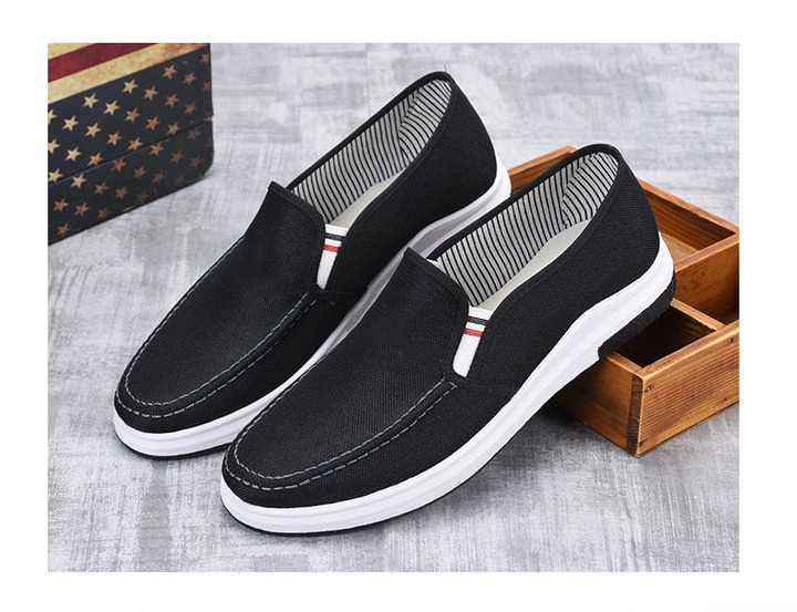 New sport leisure men's cloth shoes breathable, non-slip and wear-resistant single shoes BLACK 39