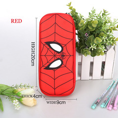 Spiderman captain America stationery bag hard shell large capacity student pencil case boy red