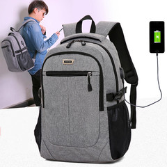 Backpack simple casual bag men fashion trend waterproof canvas travel computer backpack red wine one size