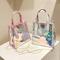 Very hot bag Summer good looking bag Shoulder slung transparent laser bag mini jelly bag black one size