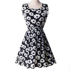 2020 New fashion Women's short sleeved Dresses Women casual Flower Printed Ladies Dress s mix