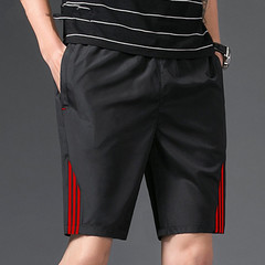 2019 casual shorts men's drawstring red striped street shorts summer men 1 m