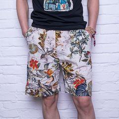2019 summer casual shorts men's camouflage fashion flower print straight short 1 m