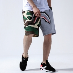 2019 summer men's shorts streetwear shark print camouflage men's shorts 1 m