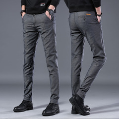 Men's Casual Pants Trend Designer Slim Men's Pants Classic Plaid High Quality Straight Pants 1 28