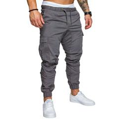 2019 new men's pants men's jogging pants solid multi-pocket pants sweatpants M-4XL 1 m