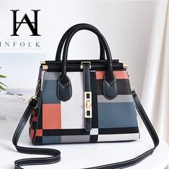 Women's Bag 2019 New Big Bag Fashion Messenger Bag Large Capacity Trend Ladies Handbag Shoulder Bag black 30*13*20