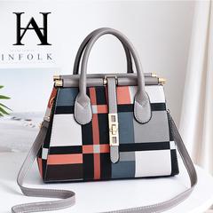 Women's Bag 2019 New Big Bag Fashion Messenger Bag Large Capacity Trend Ladies Handbag Shoulder Bag gray 30*13*20