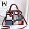 Women's Bag 2019 New Big Bag Fashion Messenger Bag Large Capacity Trend Ladies Handbag Shoulder Bag jujube red 30*13*20