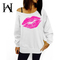 W&H Cotton Slant Shoulder Print Women's Single-Breasted Sleeves Slim Linen Long-Sleeved Sweaters 1 s