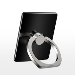 Ring bracket mobile phone ring lazy set buckle adhesive metal ring mobile phone tablet bracket black one size