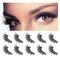 Neflyon Black 100% 3D Mink False Eyelashes Reusable Soft and Long 5 Pair Package Beauty Tools black one size