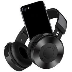 IN-550 Wireless  Bluetooth  Noise Cancelling   Headphones  Foldable  With Mic Support TF Card black