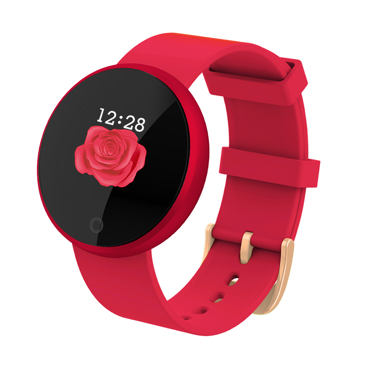 B36 Physiological Period Prediction Bracelet Intelligent Female watch Heart Rate Monitor Smartwatch red B36