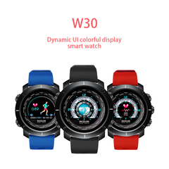W30 Fashion smart ecg monitoring bluetooth watch RED-A Style W30