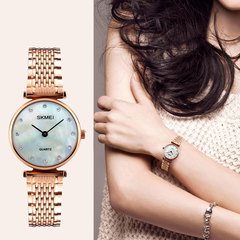 Business casual ladiesv seashell alloy steel watch with rose gold watch Gold (seashells) onesize