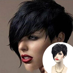 short Straight Wig Heat Resistant Sythentic High Temperature Fiber Hair Wigs(004) as picture shows one size