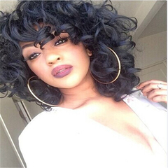 short Curly Wig Heat Resistant Sythentic High Temperature Fiber Hair Wigs(005) as picture shows one size