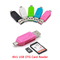4In1 USB OTG Card Reader Flash Drive USB2.0 TF/SD for phone Computer Extension Random colors one size