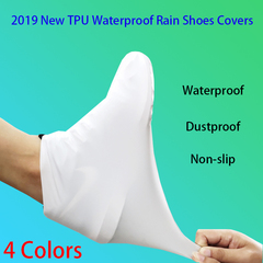 Reusable TPU Waterproof Rain Shoes Covers Slip-resistant Rain Shoes Accessories RS-001 PINK S