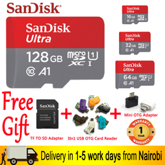 Sandisk Original A1 C10 Memory card 128GB 64G 32G 16G SDXC SDHC Micro sd card tf card 100MB/S As Pictures one size 64gb tf