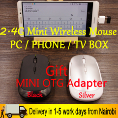 2.4G Slim Mini Wireless Optical Mouse Mice(PC PHONE TV BOX) Black One size