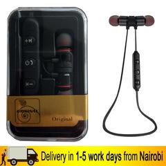 Wireless Bluetooth Earphone Sports Wireless Earphones Metal Magnetic Stereo Headset In Ear Earbud BLACK ONESIZE