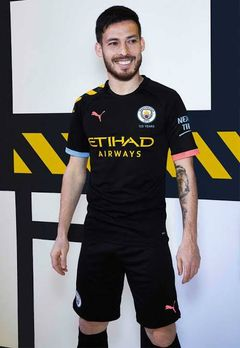 Manchester city FC Away football jersey black shirt season 2019/2020 unisex male female  medium size: medium