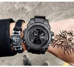 SANDA Brand Sport Watch Men's Outdoor Waterpoof Special Forces Wristwatch Teenager Luminous Watch e one size