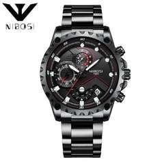 NIBOSI Brand 2019 New Sport Watch Fashion Men's Watch Waterproof Businessmen Quartz Wrist Watch a one size