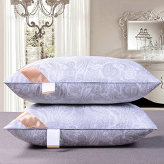 Health care neck five-star hotel feather velvet pillow China factory direct sales Blue and white porcelain pillow 0.65kg,42*70