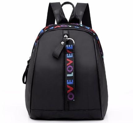 Bag bagpack bag pack bagpacks bag women bag for women Fashion bag with color belt and shoulder bag black 1