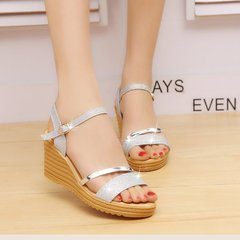 Shoes shoes women shoes ladies shoes heels shoes for women shoes lady Big size sandals silvery 35