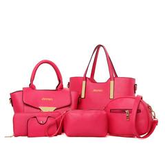 Women's Handbag with, Fashionable and Simple, Women's Handbag with Single Shoulder and Slant Bag red 1