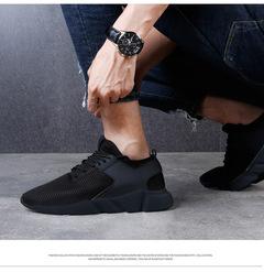 Shoes shoes men shoes men men's sports shoes large size 44 black upper, black sole 38
