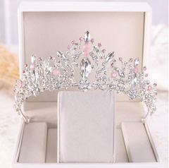 Crown Tiara princess headdress wedding bridal crown accessories Silver Arc 30