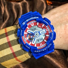 The casio g-shock avengers marvel limited edition captain America watch color 1 size 1