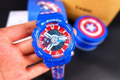 The casio avengers g-shock marvel limited edition captain America ship smart watches color 1 size 1