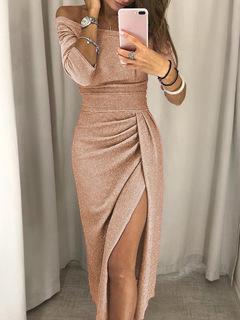 Rhodos Fashion-Women's Button Skirt 6 Colours Closed Waist, Silk Evening Dress Dress Dress xxl pink