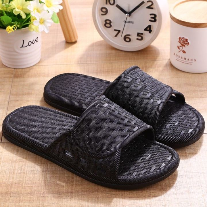 Rhodos Fashion-Home Men's Sandals Summer Leisure Thick-soled Indoor and Outdoor Soft-soled Slippers black 40