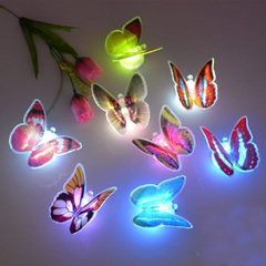 Colorful  Butterfly LED Night Light Lamp Home Room Party Desk Wall Decor motion sensor light 1Pcs