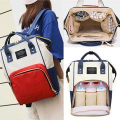 Large capacity mom bags zipper mother travel bags backpacks pregnant women baby diaper diaper bags Black