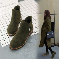 Amazing Lower Price New Promotion Women Winter Martin Boots Girl Side Zipper Student Heel Boots army green 36